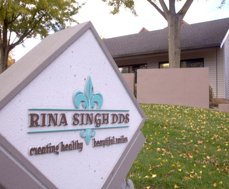 Rina Singh DDS practice sign