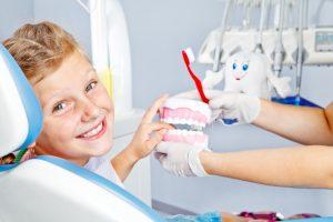 happy child at dentist